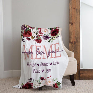 Personalized  Flora Blanket 20