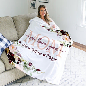 Personalized  Flora Blanket 24