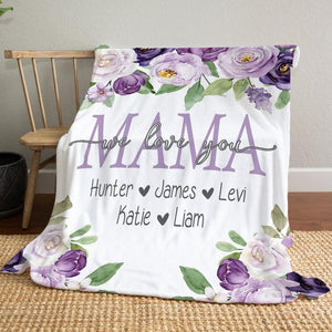 Personalized  Flora Blanket 19