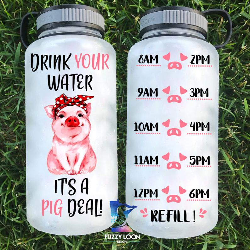 Water Bottle | Time Tracker 15 - Pig