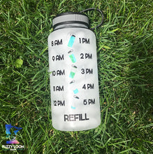 Load image into Gallery viewer, Personalized Water Bottle | Time Tracker 03 - Motivational