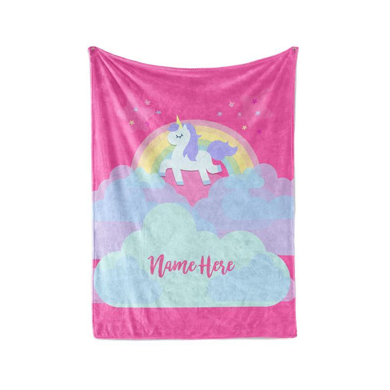 Custom UNICORN Name Blankets I04