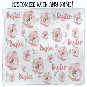 Baby Swaddle Fleece Blanket-Pink