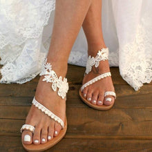 Load image into Gallery viewer, Wedding/Bridal/ Handmade Sandals 02