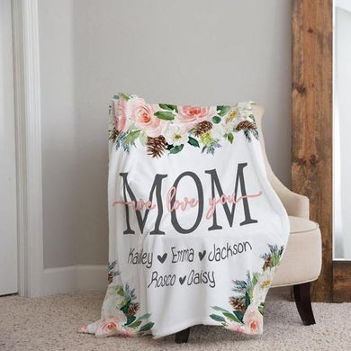 Personalized  Flora Blanket 22