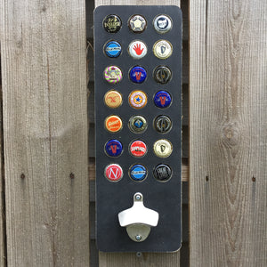 21 Bottle Cap Display and Opener 21st Birthday Gift