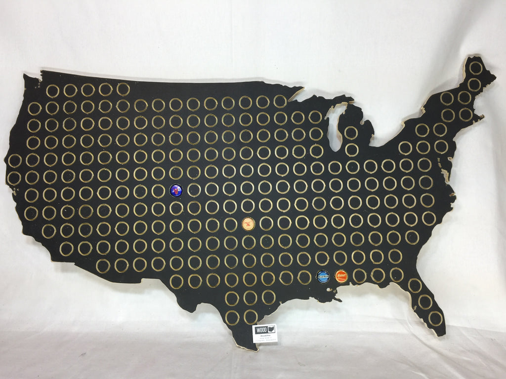 Extra Large USA Bottle Cap Display for Man Cave Wall Art Brew Gift