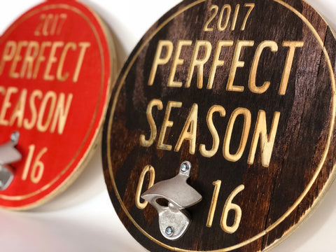 Browns Perfect Season 0-16 Bottle Opener Sign Cleveland 2017