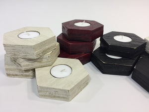Hexagon Candle Holder - Hex Votive Candles - 3 PACK - Prototype
