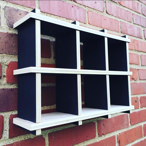 2x3 Grid Shelf - A Minimalist Wall Display