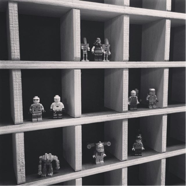 4x4 Grid Shelf - A Minimalist Wall Display