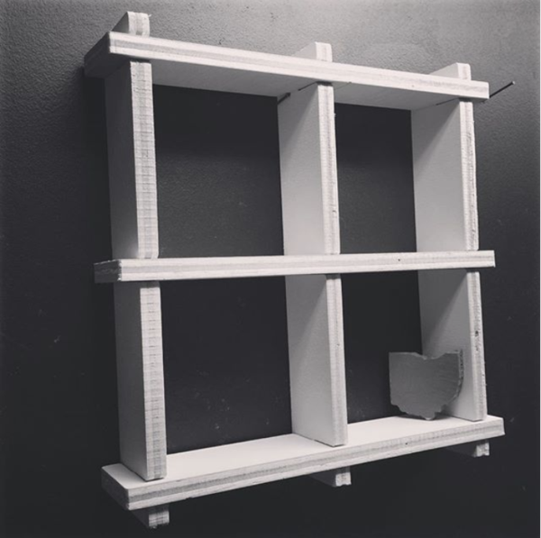 2x2 Grid Shelf - A Minimalist Wall Display