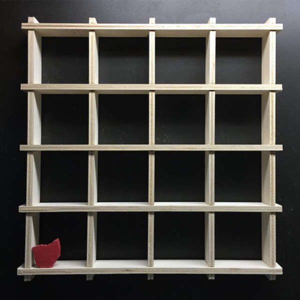 1x1 Grid Shelf - A Minimalist Wall Display