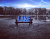 Large Lake Sign - BLOCK - Cottage Pond Lakehouse Cabin Decoration - L Size
