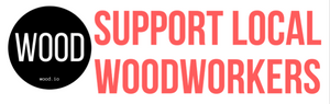 Support Local Woodworkers - Sticker