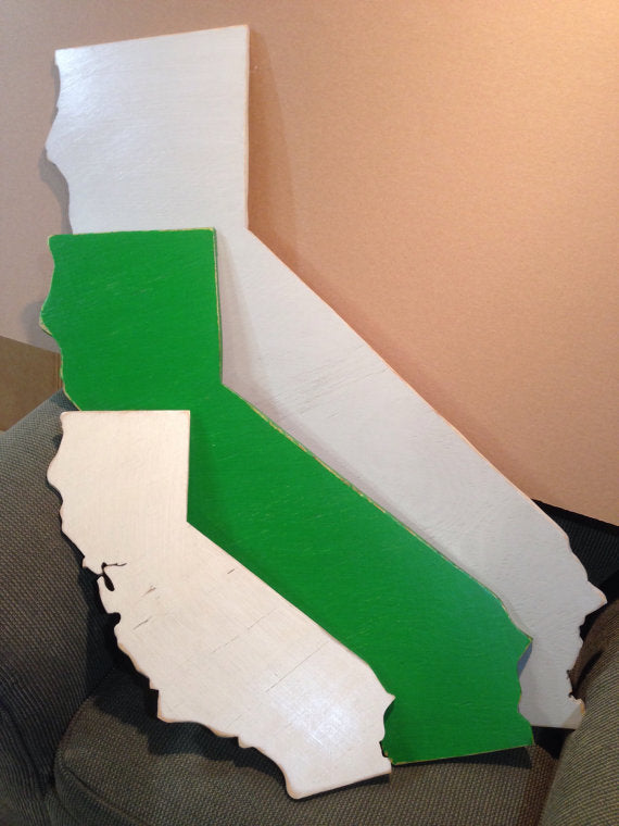 Extra Extra Large California Sign - Proudly Display Your State - XXL Size CA