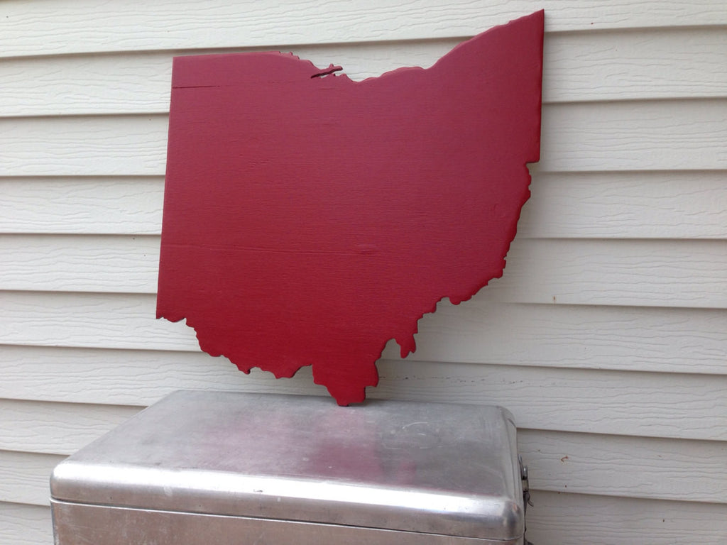 Ohio State Sign - Large - Painted or Antiqued