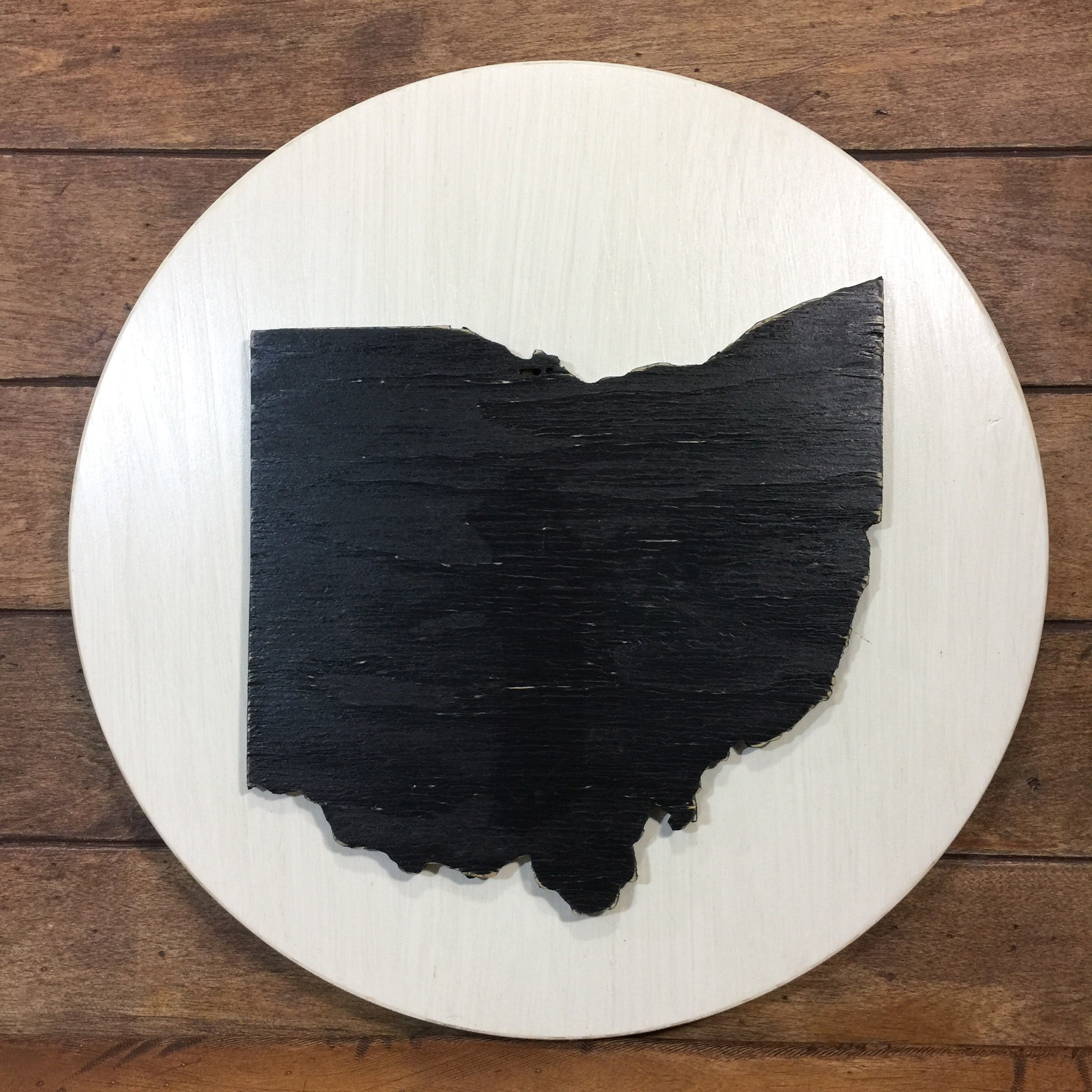 Black Ohio on White Background