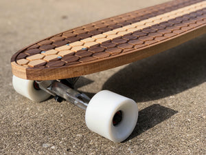 Walnut & Maple Longboard - Hex
