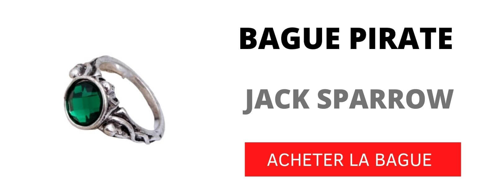 bague pirate jack sparrow