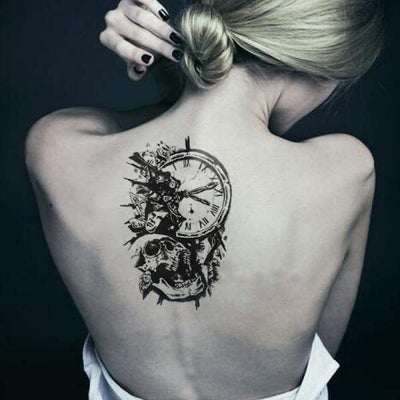 Tatouage Ephemere Horloge | Refuge Du Pirate