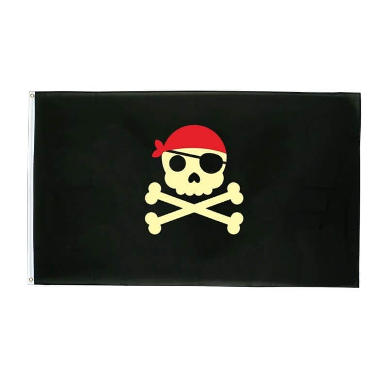 Drapeau Pirate - Jolly Roger Jaune