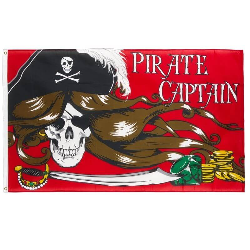 Drapeau Pirate - La Capitaine Sanguinaire
