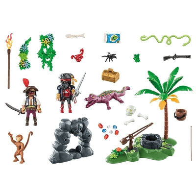 PLAYMOBIL-70414-Repaire-Du-Trésor-Du-Pirate-pieces