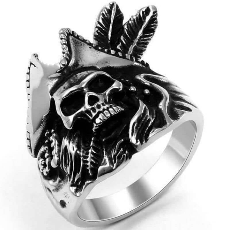 Bague Pirate - Capitaine Indien (Argent)