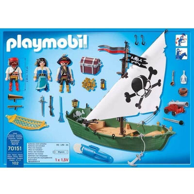 bateau-pirate-playmobil-70151-pieces