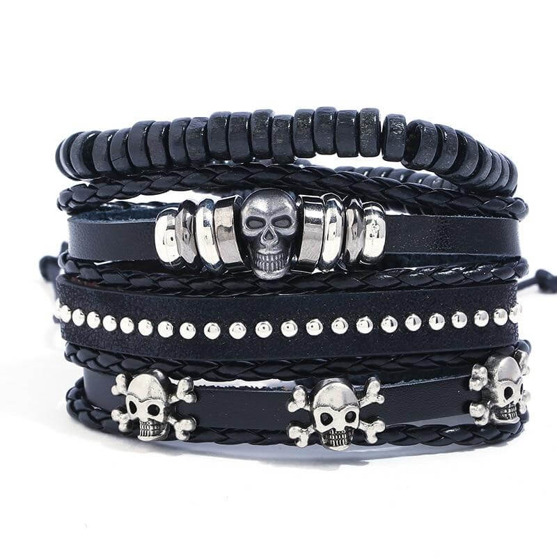 Bracelet Pirate - Gothique (Cuir)