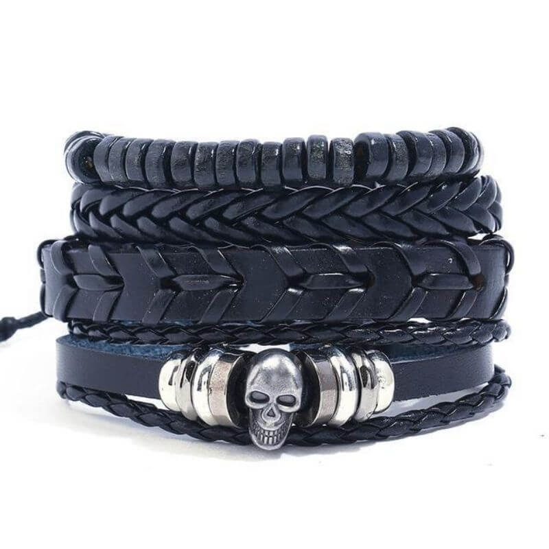 Bracelet Pirate - Mort Total (Cuir)