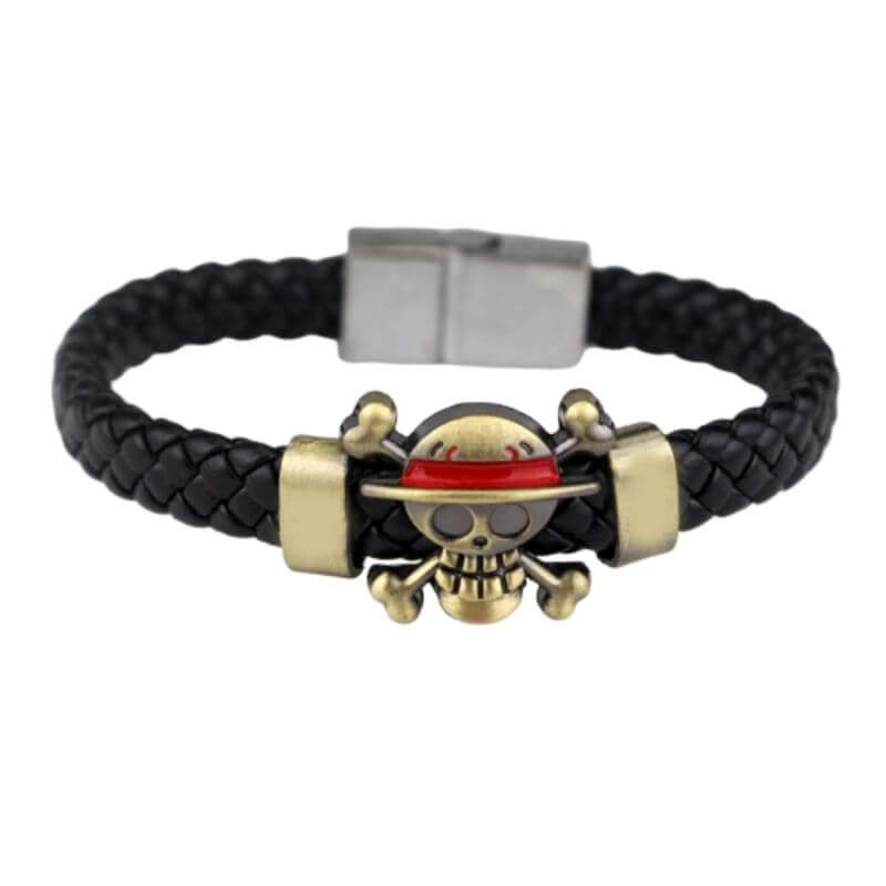 Bracelet Pirate - One Piece (Cuir)