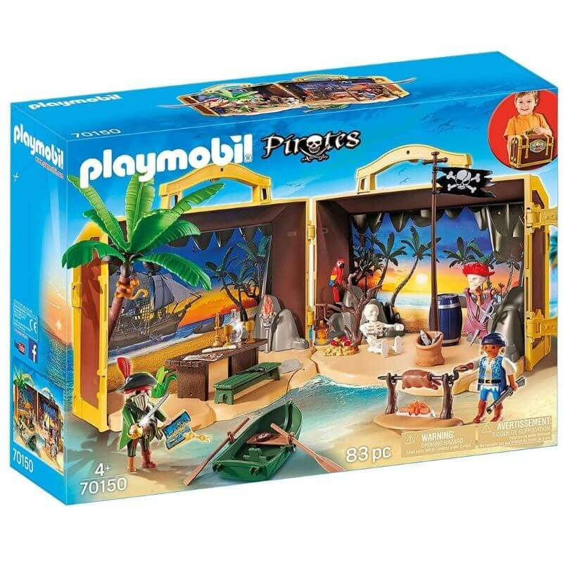 PLAYMOBIL 70150 - Coffre des Pirates Transportable
