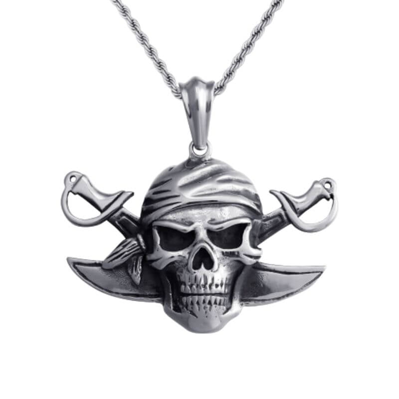 Collier Pirate -Tête De Mort