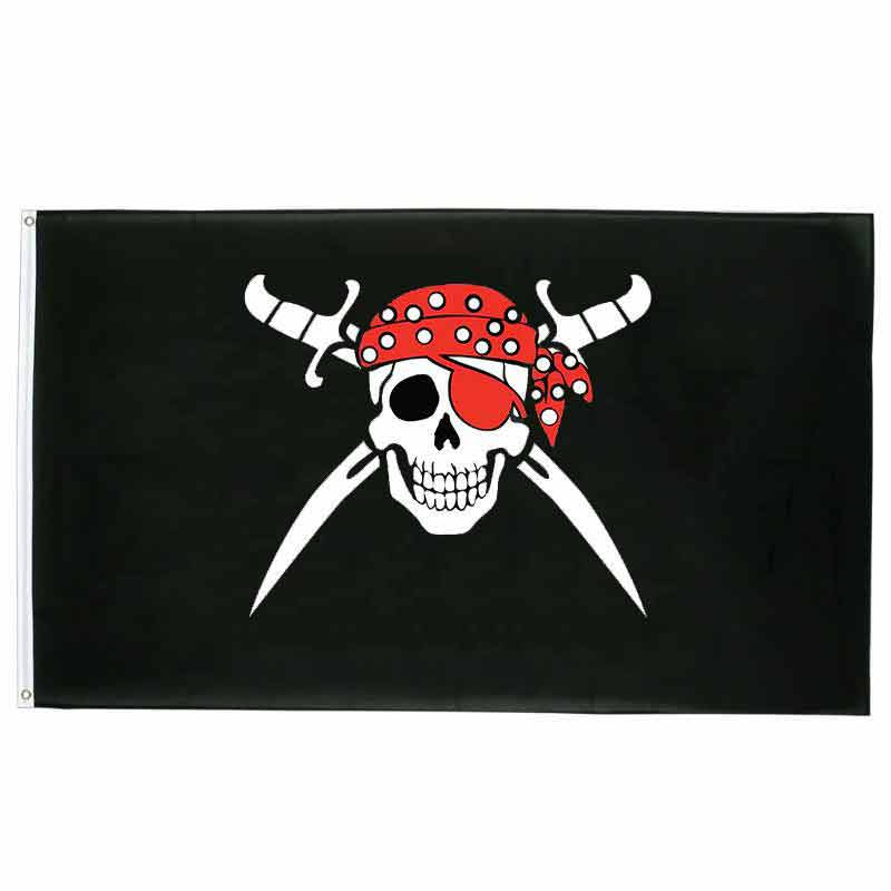 Drapeau Pirate -  Foulard Rouge