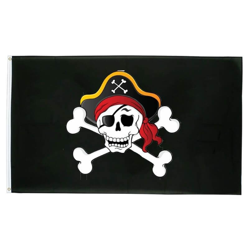 Drapeau Pirate - Tête De Mort Du Capitaine