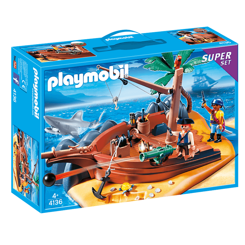 PLAYMOBIL 4136 - Superset Île Des Pirates