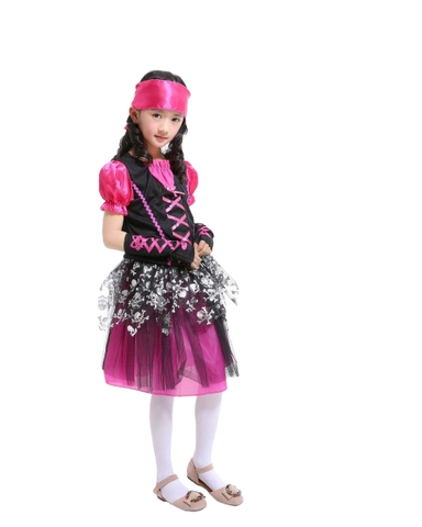 costume pirate rose fille