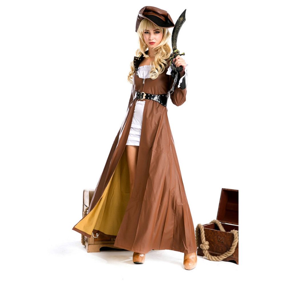 costume pirate marron femme