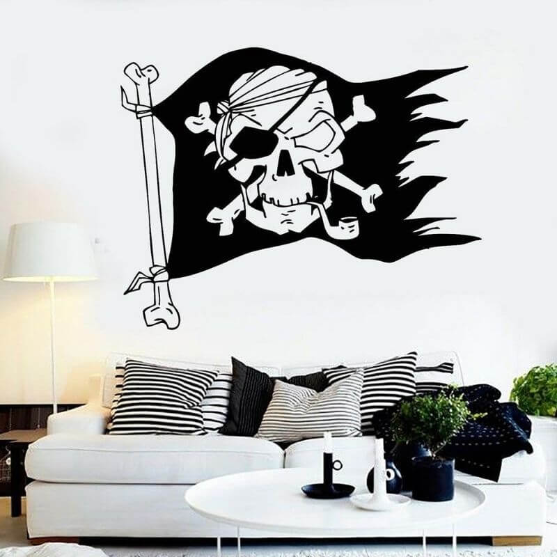 Stickers Pirate - Drapeau Pirate