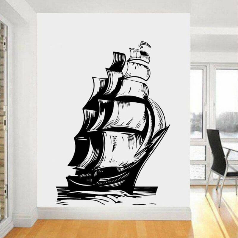 Stickers Pirate - Bateau Pirate