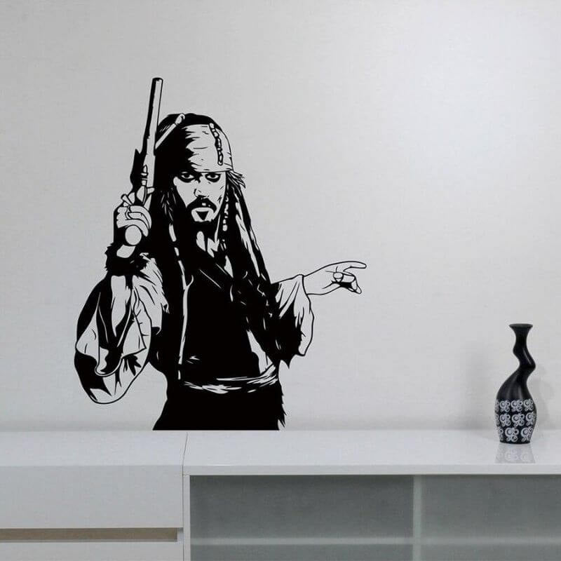Stickers Pirate - Jack Sparrow