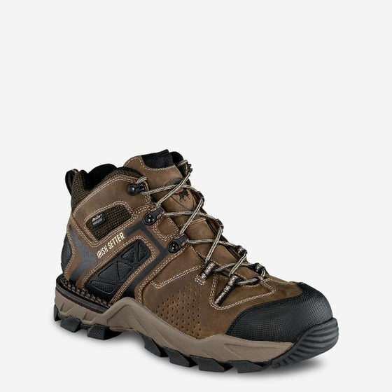 Irish Setter 83421 Crosby 5 Inch Waterproof Safety Toe Hiking Boot