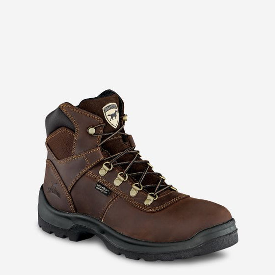 "Men's Ely 6"" Waterproof Leather Safety Toe Boot"