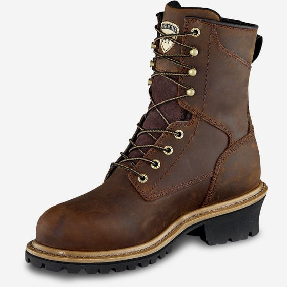 Irish Setter MESABI 83844 8-INCH WATERPROOF LEATHER SAFETY TOE PUNCTURE RESISTANT LOGGER BOOT