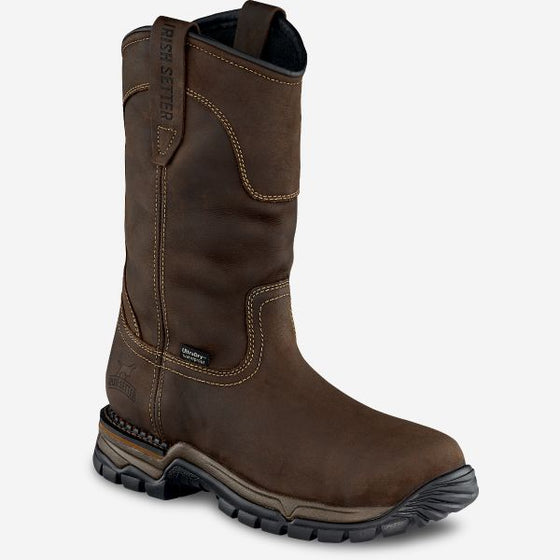 "Men's 11"" Waterproof Leather Soft Toe Pull On Boot"