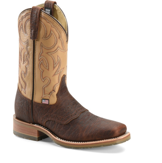 "HH 4305 Graham 11"" Domestic Bison Wide Square Toe I.C.E.™ Roper"