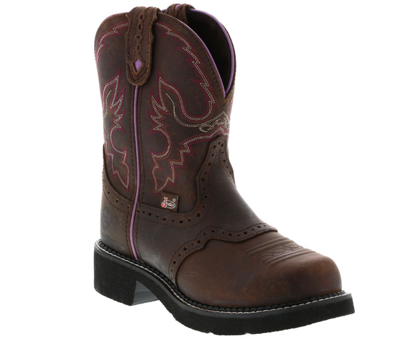 Justin WKL9980  Women's Wanette Brown Steel Toe