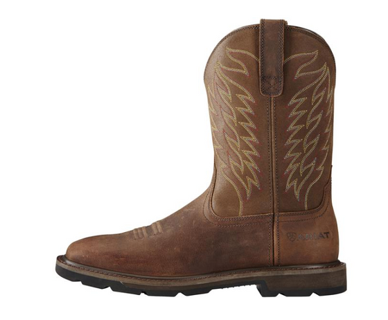 Ariat 1108 Groundbreaker Wide Square Toe And Manvel Work Steel Toe Work Boot